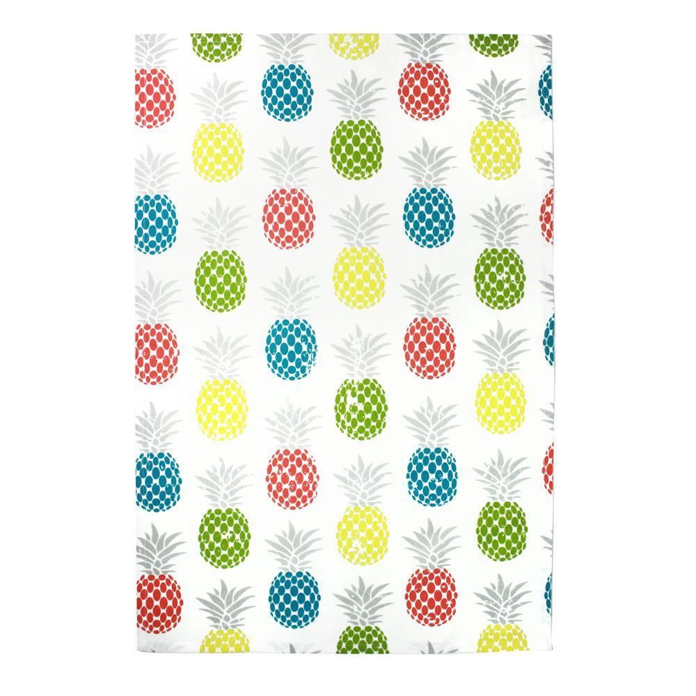 Designer Print Multi Towels Pineapple Medley Cotton Kitchen Towels (Set of 2)