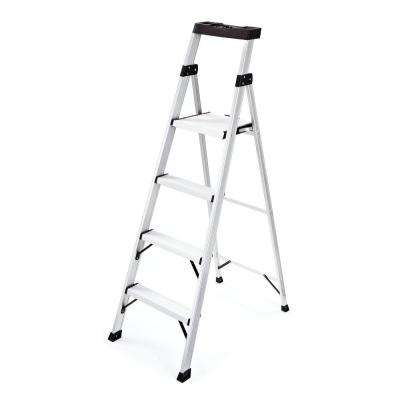 4-Step Aluminum Step Stool with 250 lb. Load Capacity Type I Duty Rating
