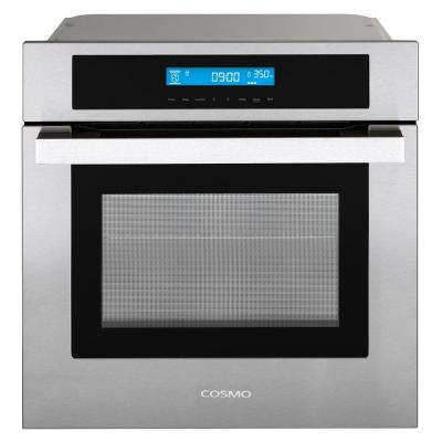 24 in. 2.5 cu. ft. Single Electric Wall Oven w/8 Functions and True European Convection in Stainless Steel
