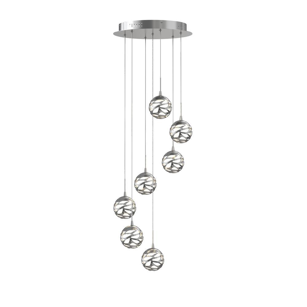 7th Avenue 44-Watt Satin Nickel Integrated LED Pendant