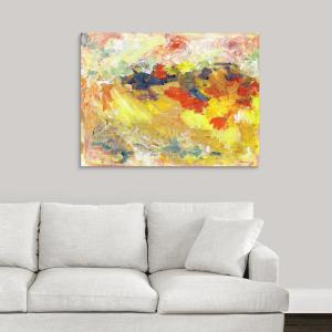 Abstract Fall Colors And First Snow By Randy Riccoboni Canvas Wall Art
