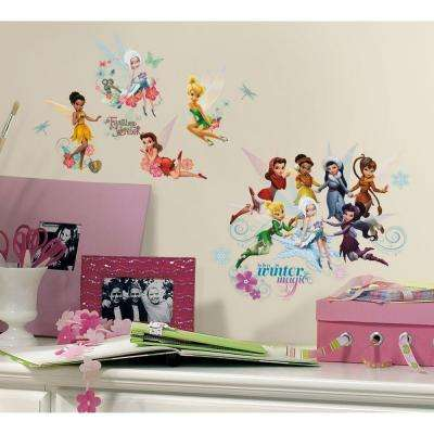 10 in. x 18 in. Disney Fairies - Secret of the Wings 54-Piece Peel and Stick Wall Decals