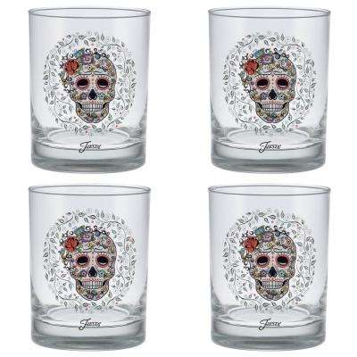 14 oz. Skull and Vine Sugar Classic Double Old-Fashioned Glass