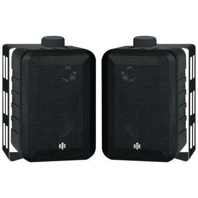RTR Series 3-Way Indoor/Outdoor Speakers - Black
