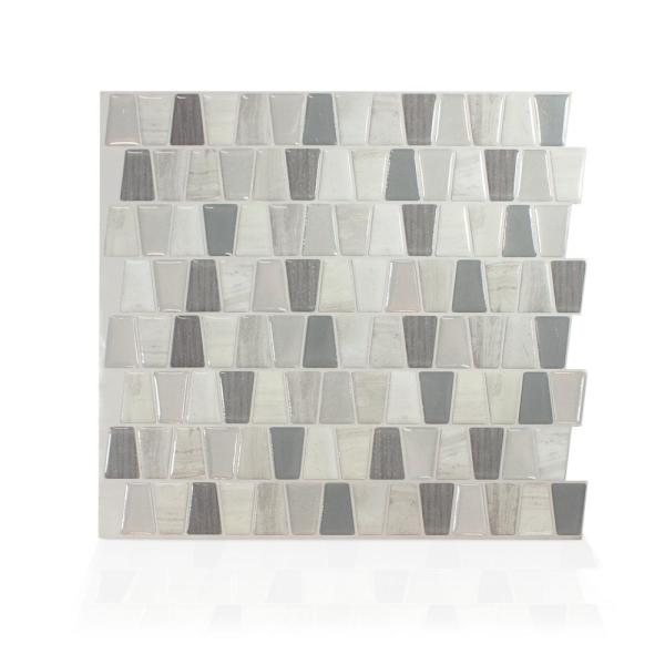 Smart Tiles Cavalis Tenero Taupe 10.36 in. W x 9.48 in.