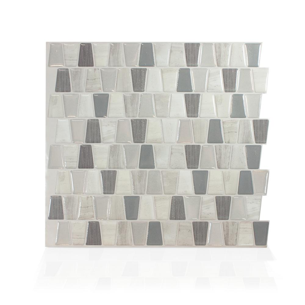 Smart tiles cavalis tenero taupe in w x in h for Carrelage taupe