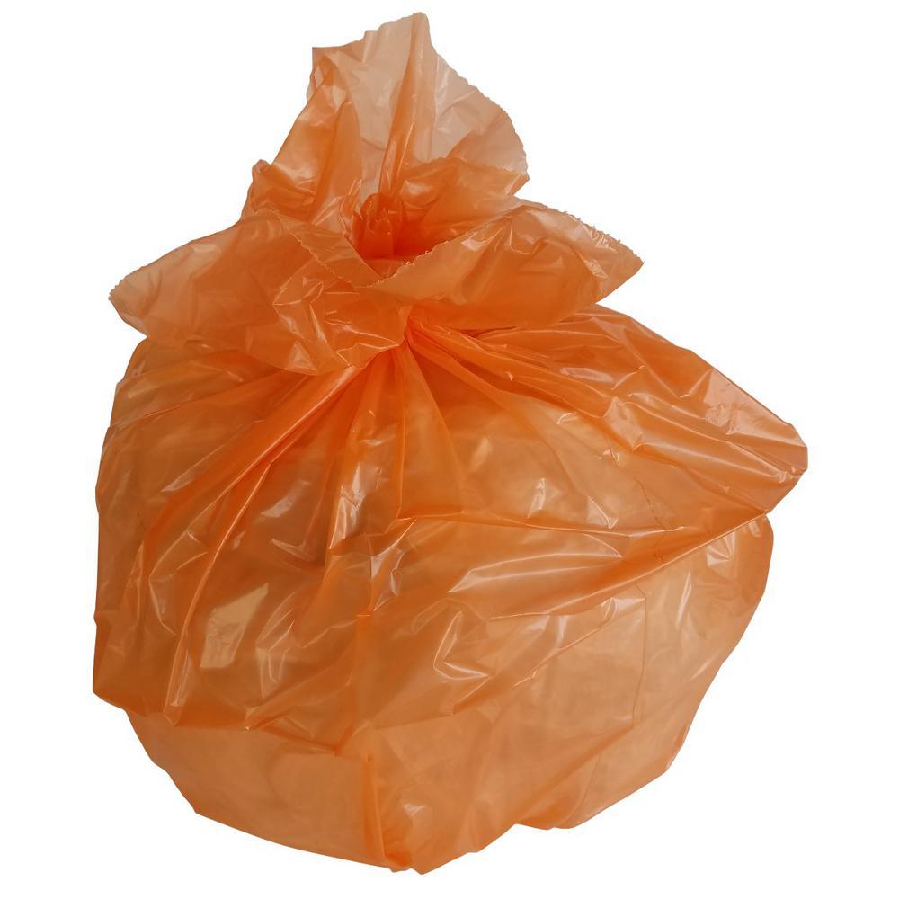 33 Gal. 1.5 mil 33 in. H x 39 in. W Orange Trash Bags (100-Bags per Case, 112-Cases per Pallet)