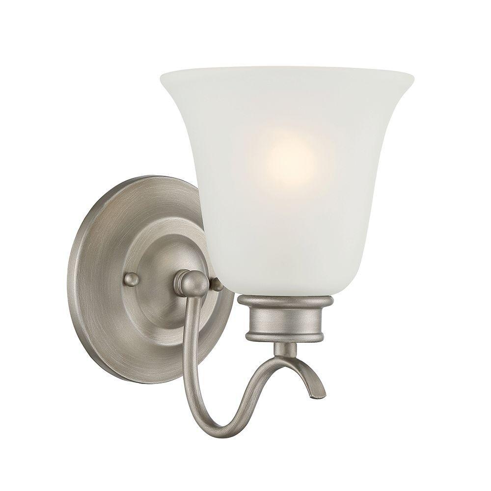 Montego 1-Light Matte Pewter Interior Incandescent Bath Vanity Light
