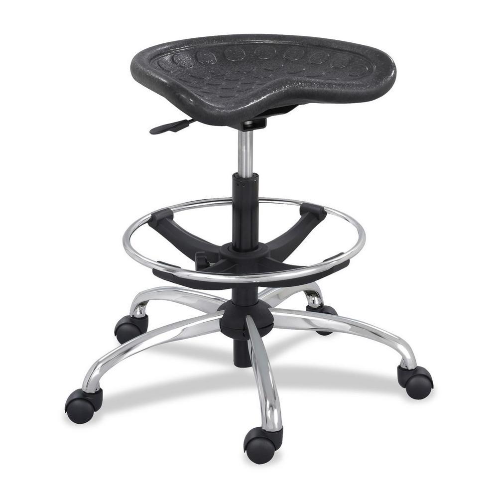 Safco Black Metal Adjustable Office Stool