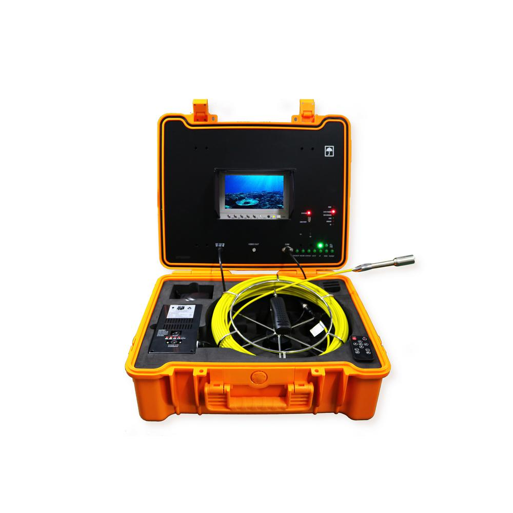 Portable 130 ft. Color LED Sewer/Drain/Pipe Inspection Camera w/Built in 512HZ