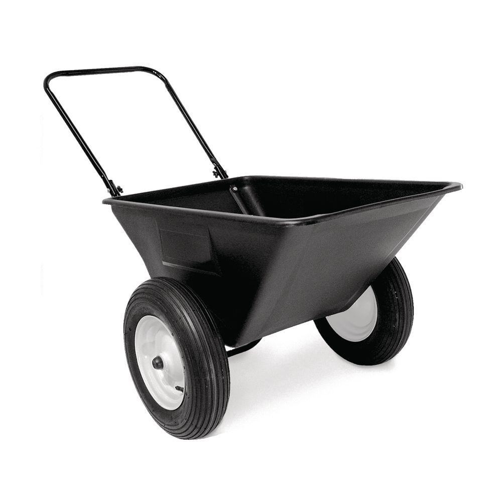 Precision 5.5 cu. ft. Lawn Cart with 16 in. Pneumatics Wheels