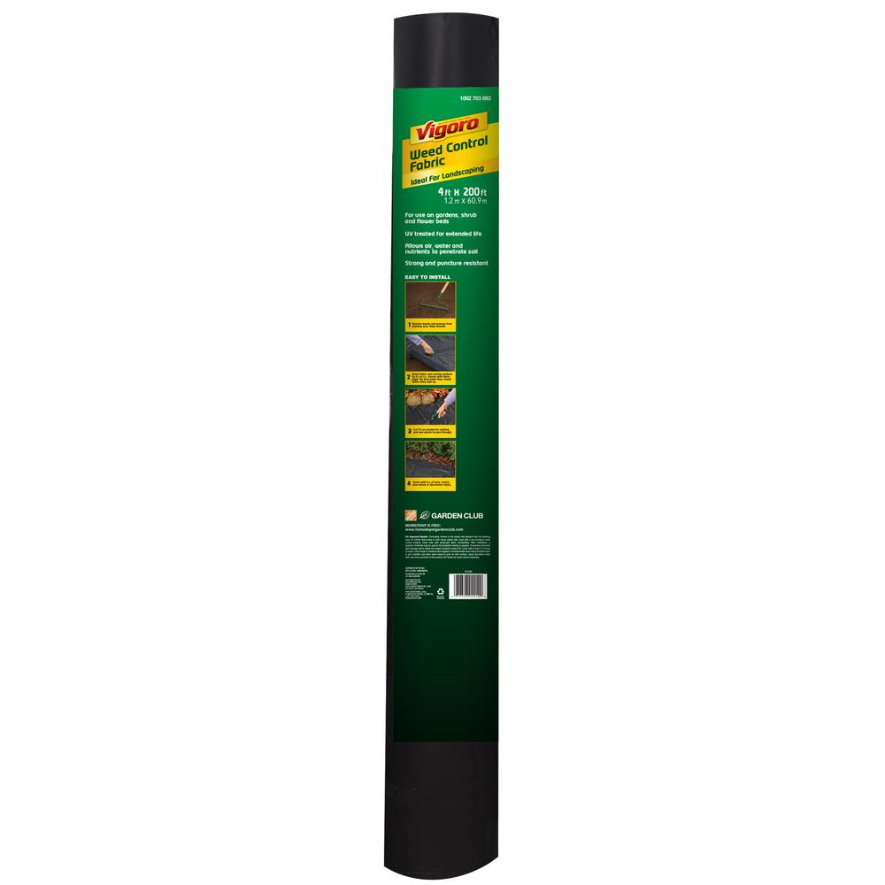 Vigoro 4 ft. x 200 ft. Weed Barrier Landscape Fabric with PowerGrid, Heavy Duty