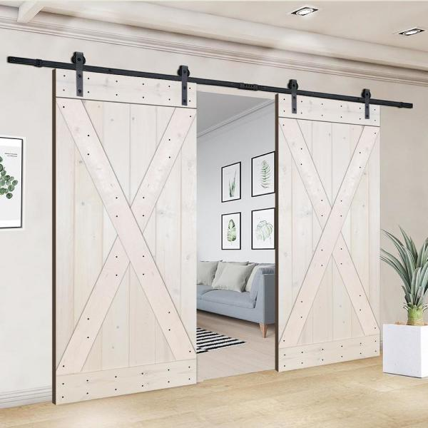 Akicon D2x Series 76 In X 84 In 12 Panel Wh Painted Wood Sliding Door Without Installation Hardware Kit Jm D2x Wh 76 The Home Depot