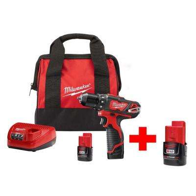 M12 12-Volt Lithium-Ion Cordless 3/8 in. Drill/Driver Kit With Free M12 2.0Ah Battery