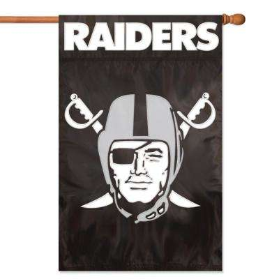 Oakland Raiders Applique Banner Flag
