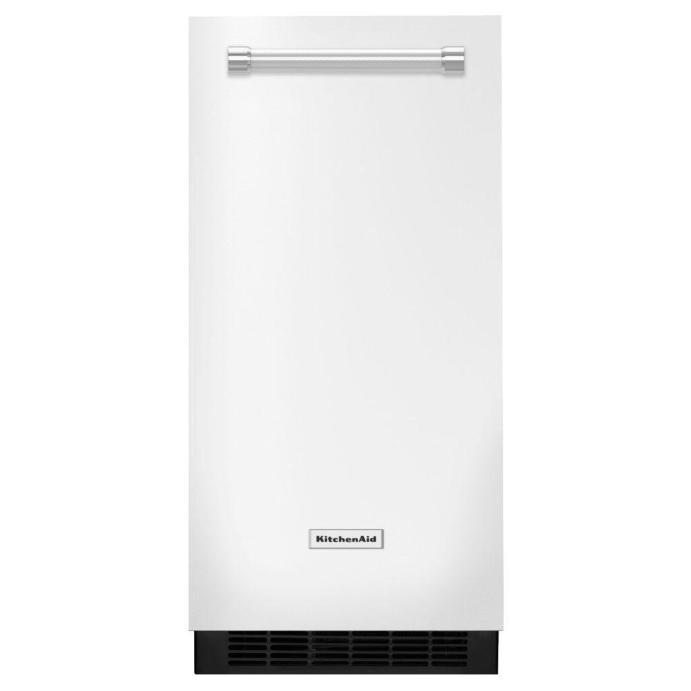 15 in. 51 lbs. Built-In or Freestanding Ice Maker in White