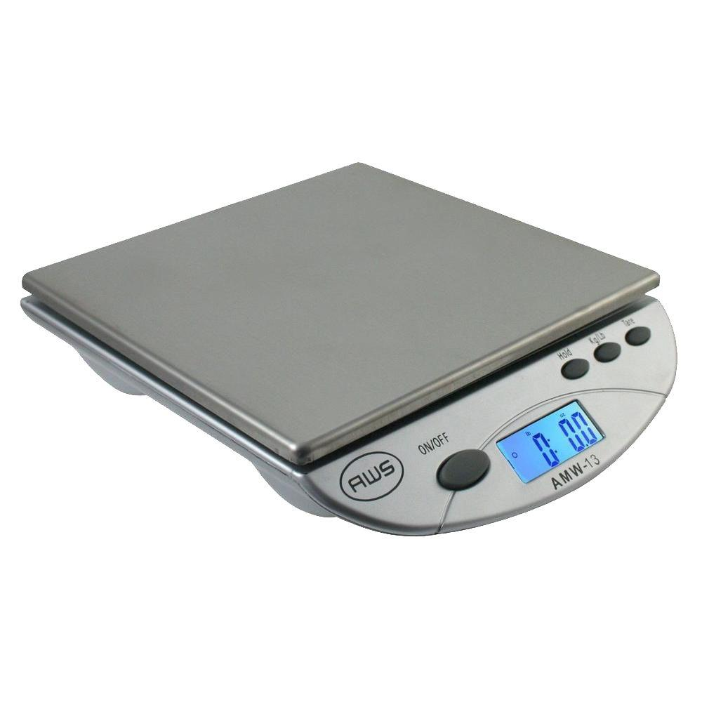american weigh digital postal kitchen scale in silver - Digital Kitchen Scale