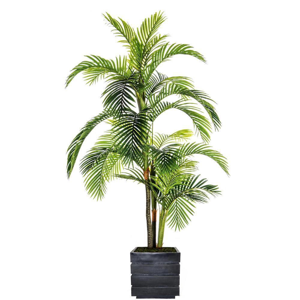 96 in. Tall Palm Tree in Fiberstone pot