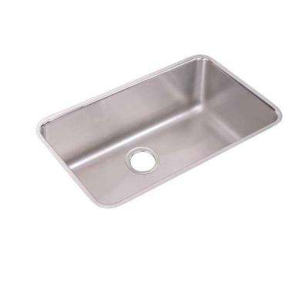 Lustertone Undermount Stainless Steel 31 in. Single Basin Kitchen Sink