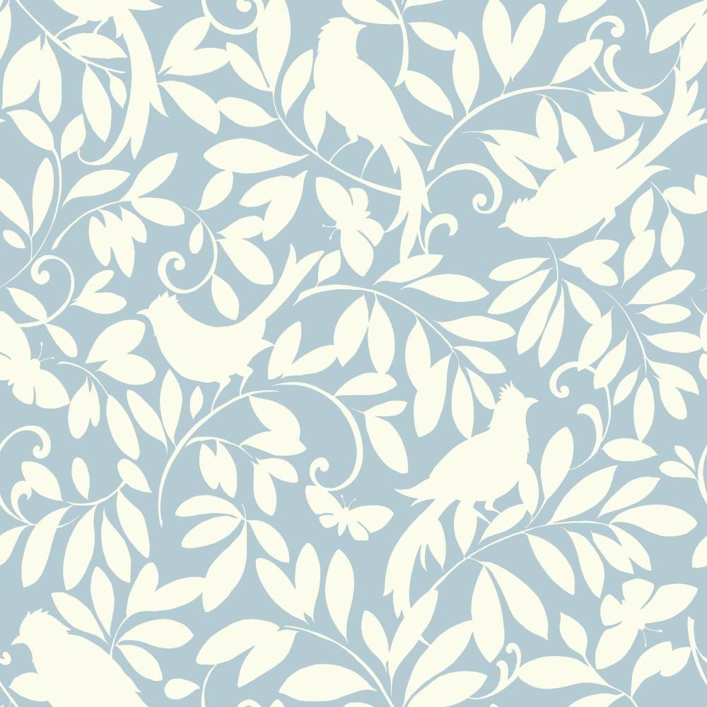 York wallcoverings waverly cottage birdsong wallpaper for Waverly wallpaper