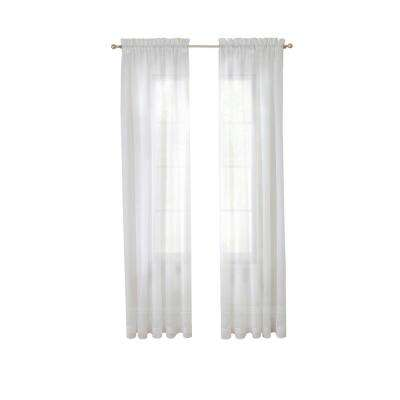 Victoria Voile Window Curtain Panel Pair in Grey - 118 in. W x 95 in. L