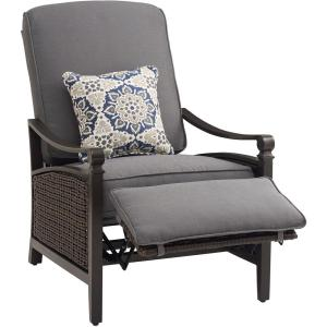 Carson Chestnut and Espresso All-Weather Wicker Outdoor Reclining Patio Lounge Chair with Indigo Cushions  sc 1 st  The Home Depot & La-Z Boy Carson Espresso All-Weather Wicker Outdoor Luxury Patio ... islam-shia.org