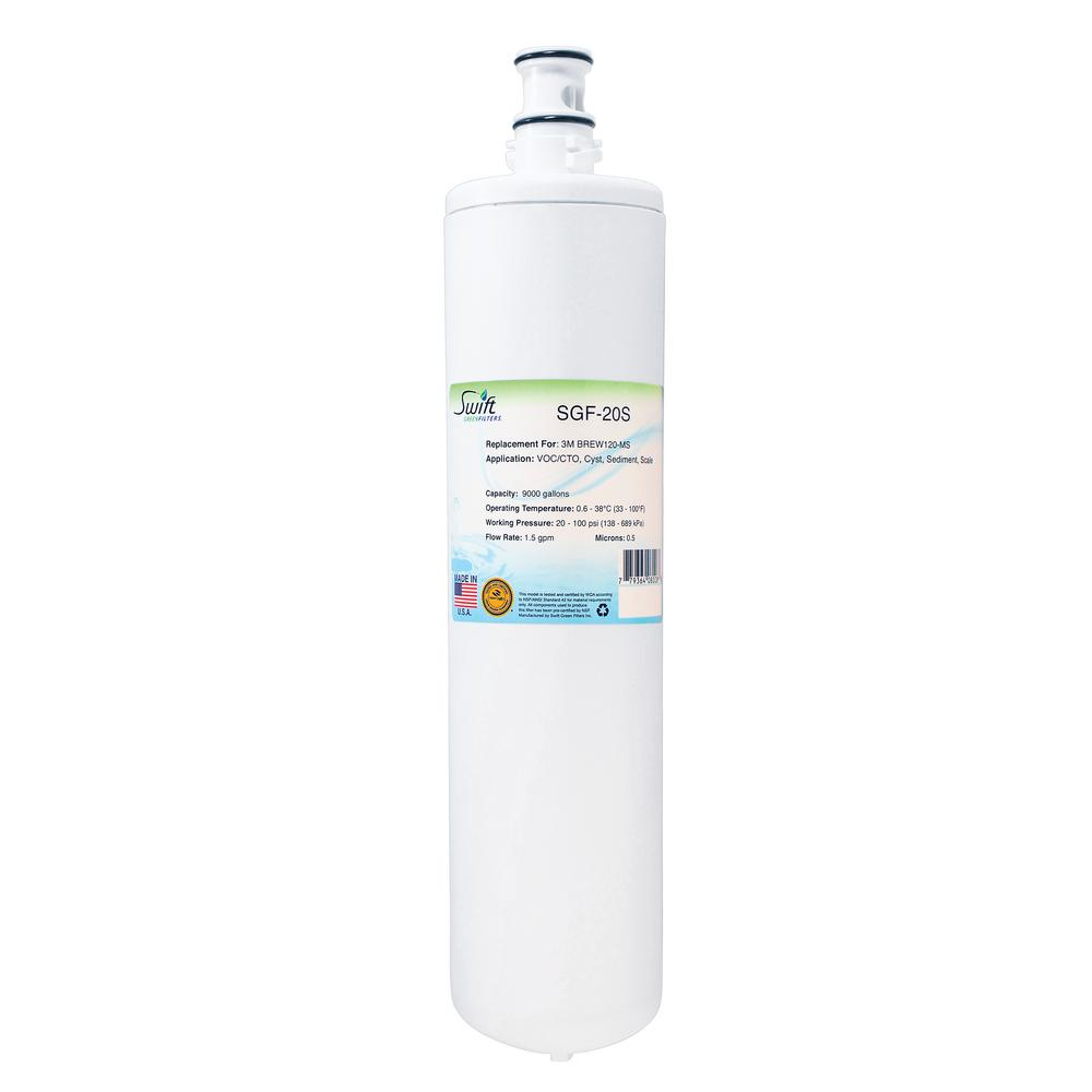 SGF-20S Replacement Water Filter for 3M BREW120-MS