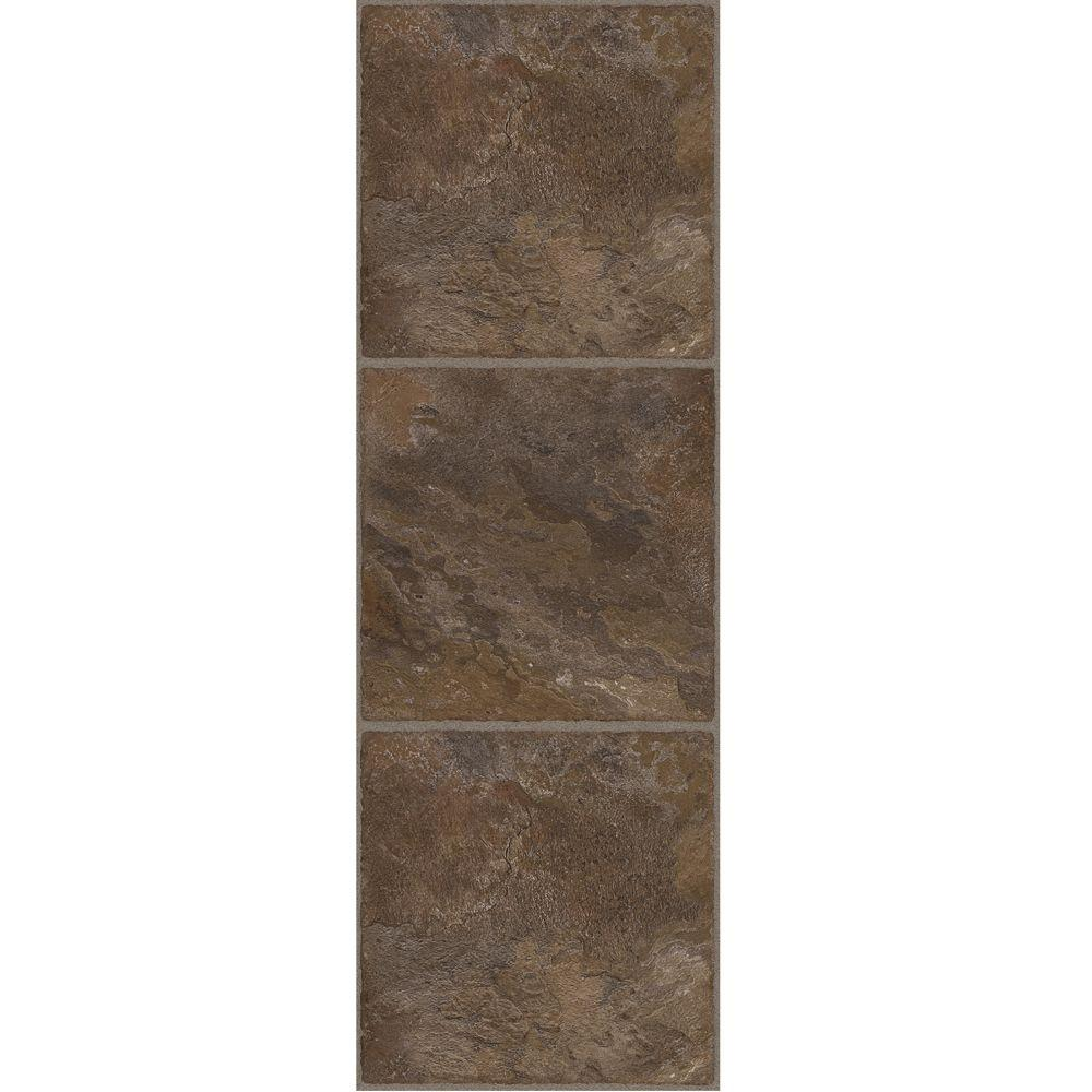 TrafficMASTER Allure Allure 12 in. x 36 in. Chocolate Luxury Vinyl Tile Flooring (24 sq. ft. / Case)