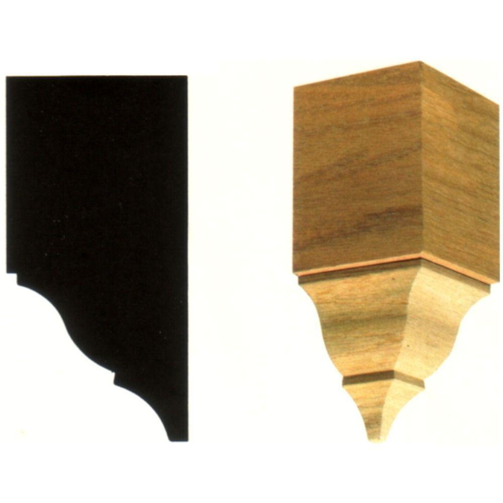 House of Fara 3-1/2 in. x 3-1/2 in. x 7-3/4 in. Hardwood Inside Crown Corner Block Moulding