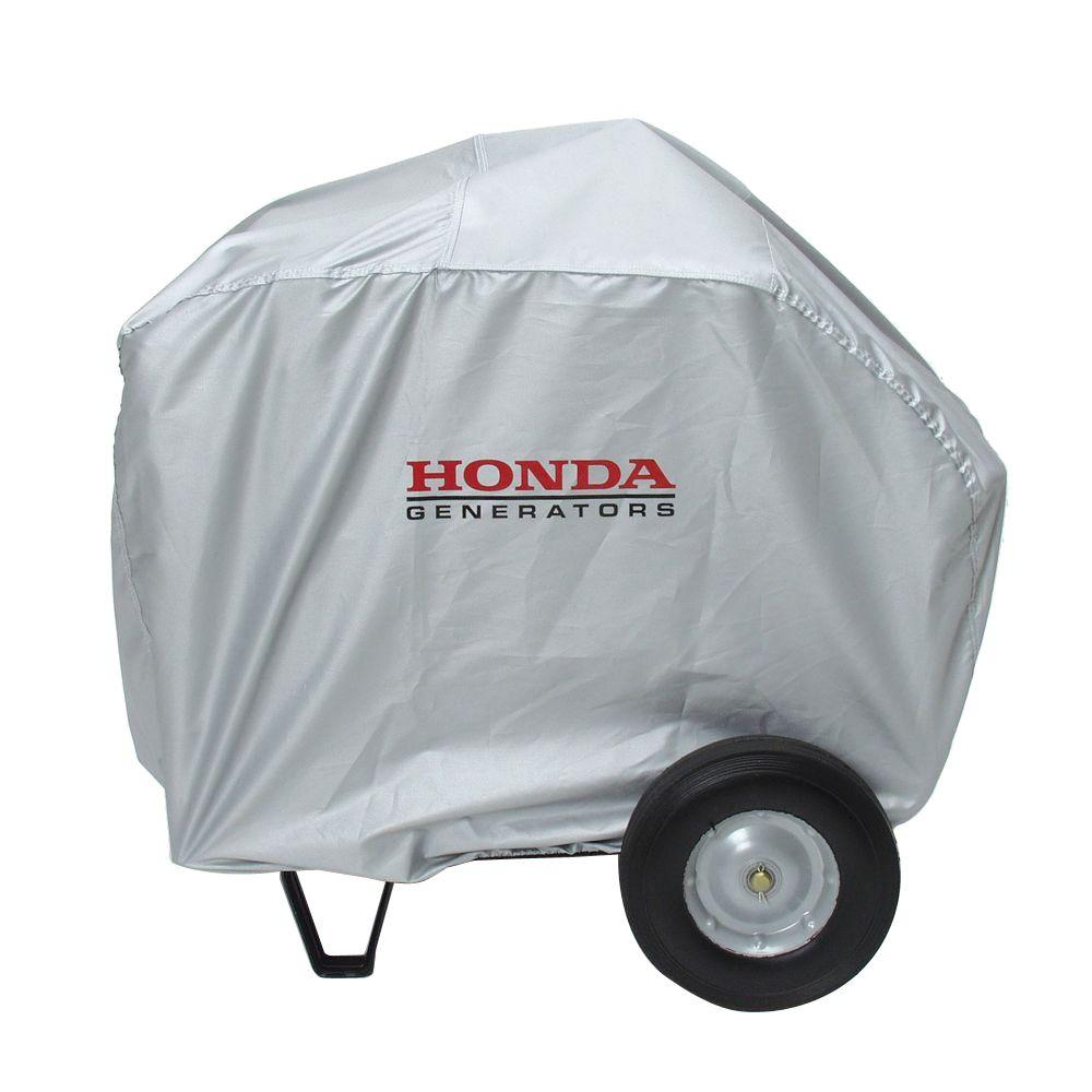 Universal Large Generator Cover in Silver and Folding Handle Wheel Kit