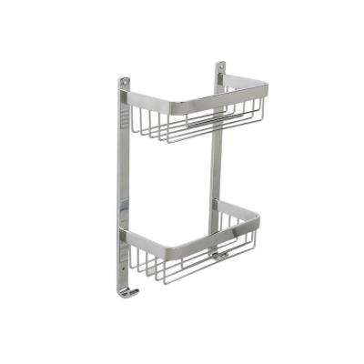 15.4 in. H x 10 in. W x 4.9 in. D 2-Tier Basket in Aluminum