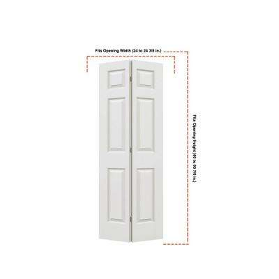 24 in. x 80 in. Colonist Primed Textured Molded Composite MDF Closet Bi-Fold Door