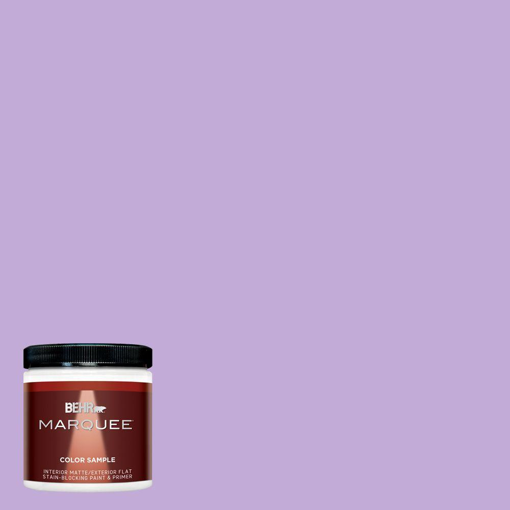 Behr marquee 8 oz mq4 59 purple gladiola one coat hide matte interior exterior paint and for Behr interior paint and primer in one