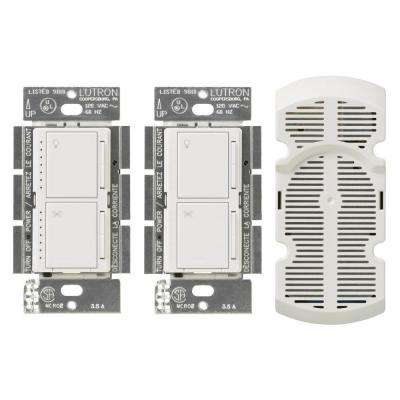 Maestro 1-Amp Multi-Location 7 Speed Combination Fan and Light Control Kit - White
