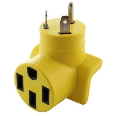 RV Adapter TT-30P RV 30 Amp Male Plug to RV 50 Amp 14-50R Connector