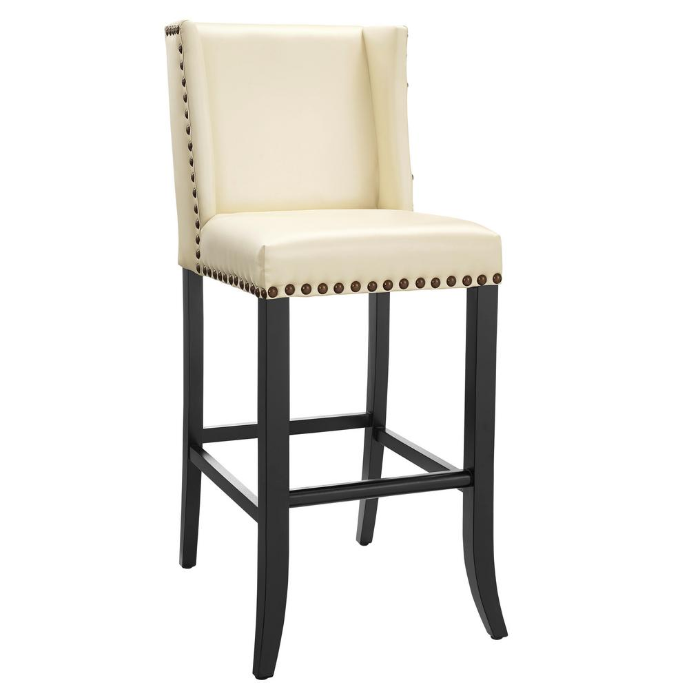 Tov Furniture Denver Cream Bar Stool Tov Bs15 The Home Depot