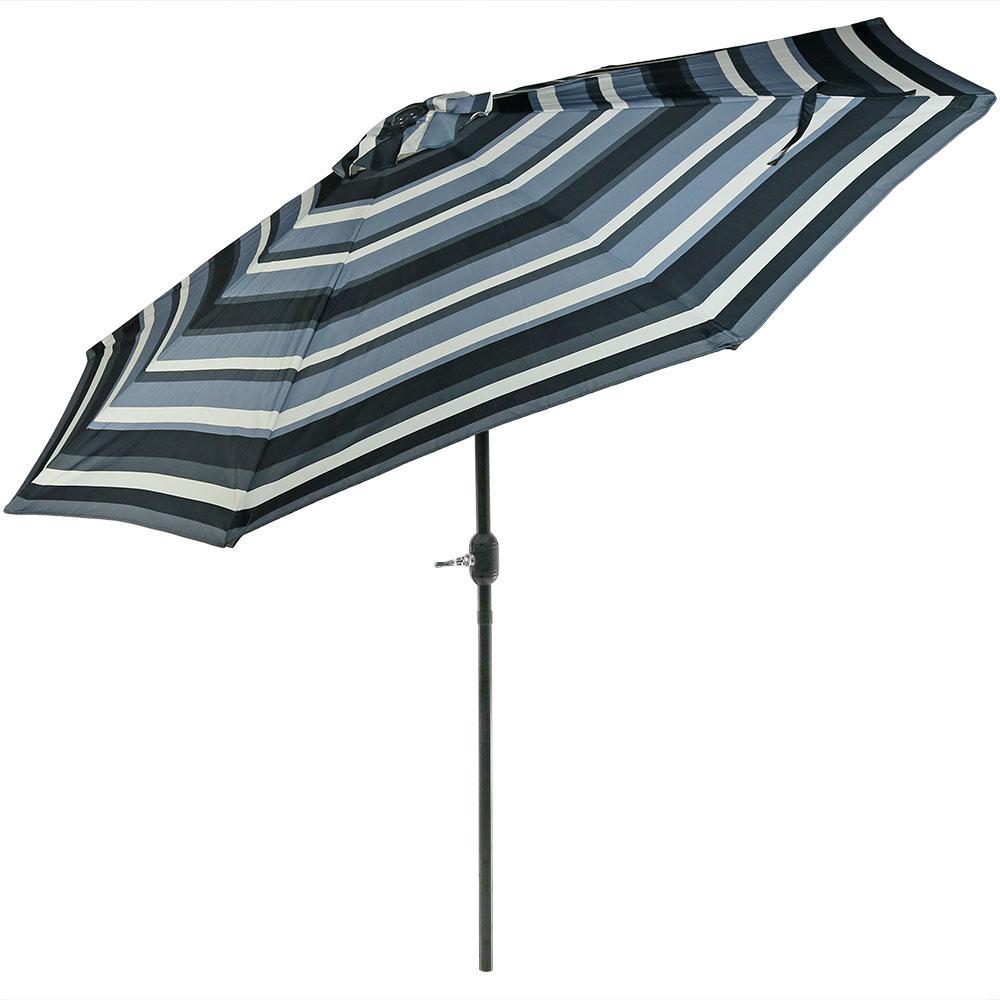 9 ft. Aluminum Market Tilt Patio Umbrella in Catalina Beach Stripe
