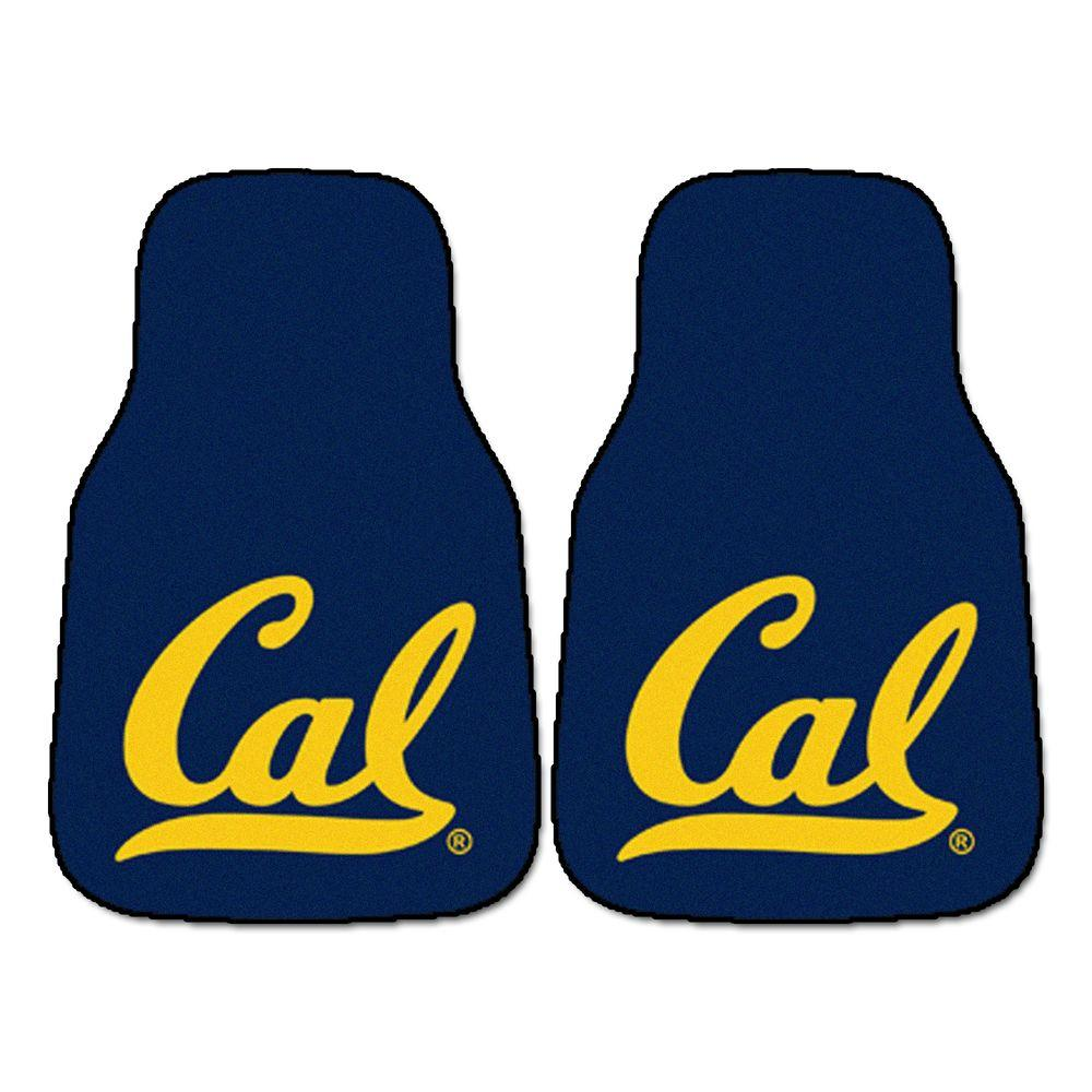 FANMATS University of California, Berkeley of 18 in. x 27 in. 2-Piece Carpeted Car Mat Set