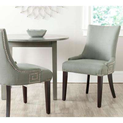 Gretchen Granite/Espresso Linen Side Chair (Set of 2)