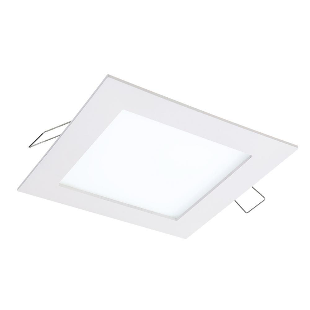 SMD-DM 4.85 in. Lens White Square Flushmount Integrated LED Recessed Ceiling