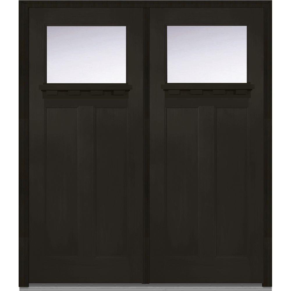 mmi door 72 in x 80 in shaker left hand inswing 1 lite clear low e