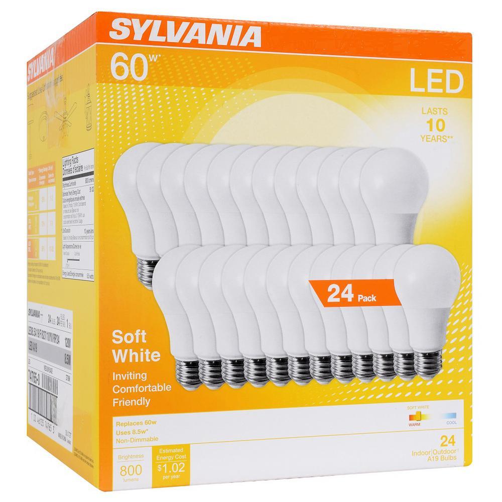 A19 Lamp 100W Equivalent Led Light Bulb 4 Pack Sylvania Home Lighting 78102 Sylvania Bright White 3500K Efficient 14W
