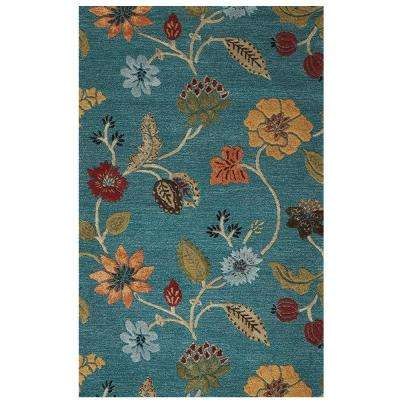 Portico Peacock 2 ft. 3 in. x 3 ft. 9 in. Area Rug