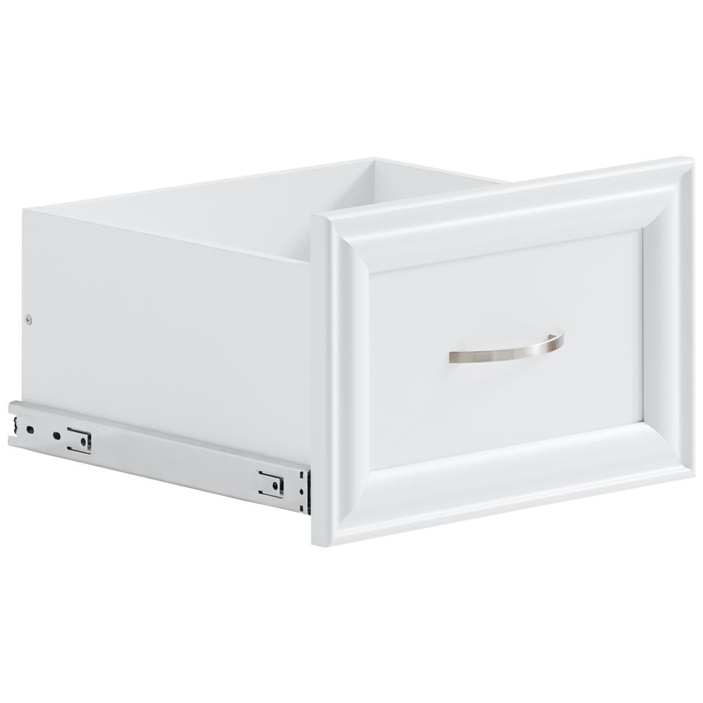 16 in. W x 10 in. H Storage Drawer in White