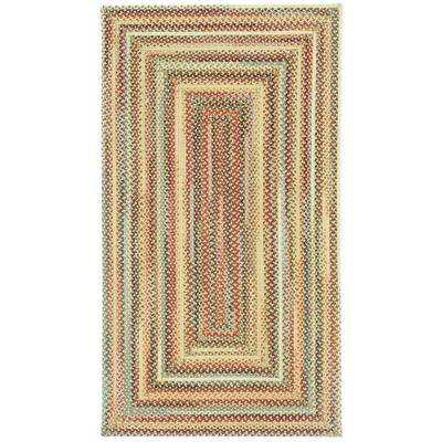 Portland Gold 3 ft. x 5 ft. Concentric Area Rug