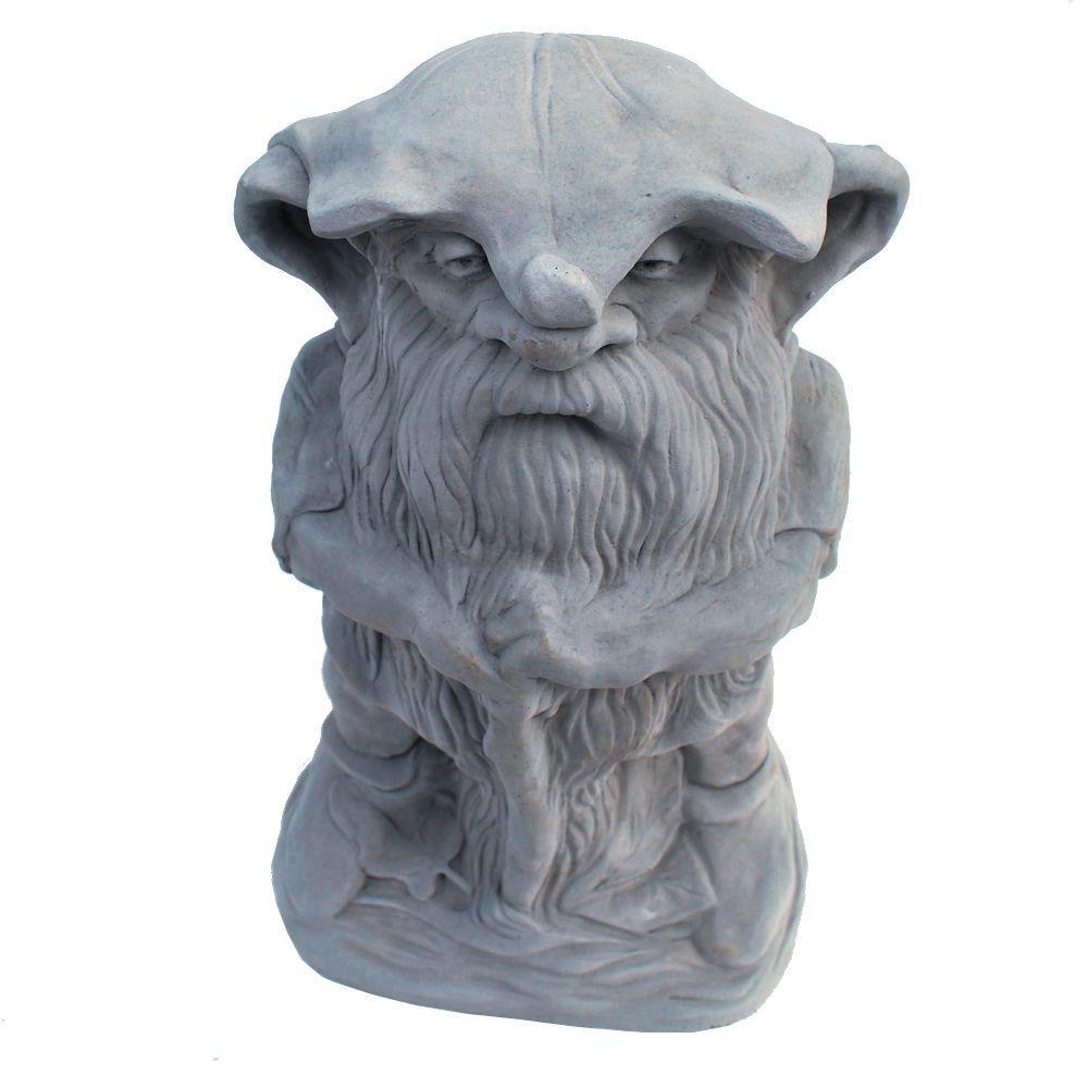 Cast Stone Large Rainman Garden Statue Antique Gray