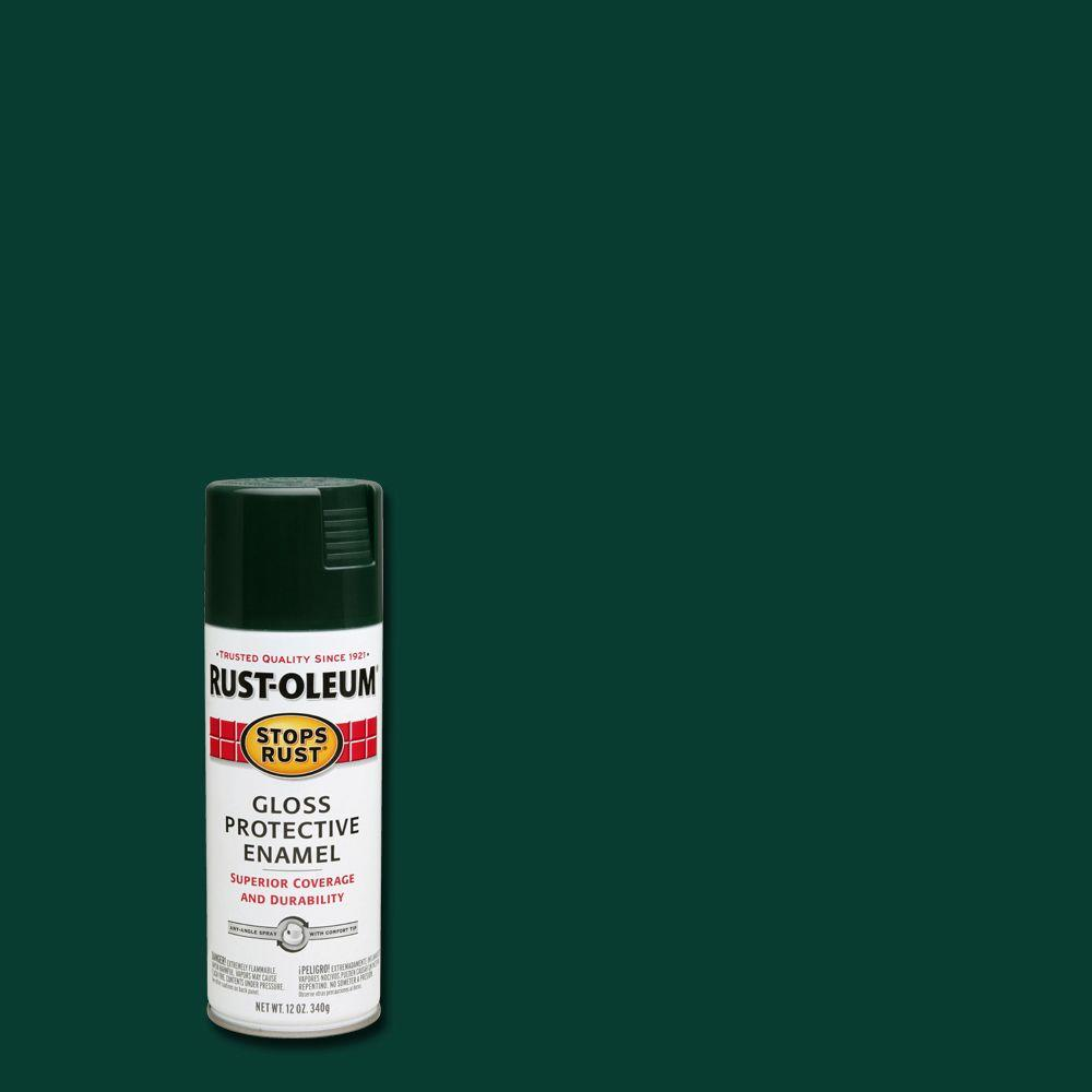 12 oz. Protective Enamel Gloss Dark Hunter Green Spray Paint
