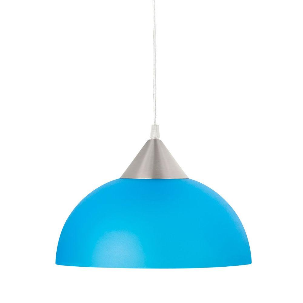 Globe Electric Modern Blue Hanging/Ceiling Pendant Plug-in Light Fixture with 15 ft. Cord
