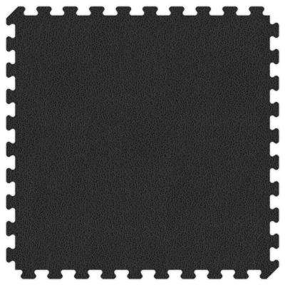 Black and Grey Reversible 24 in. x 24 in. Extra Thick Comfortable Mat (100 sq.ft. / Case)