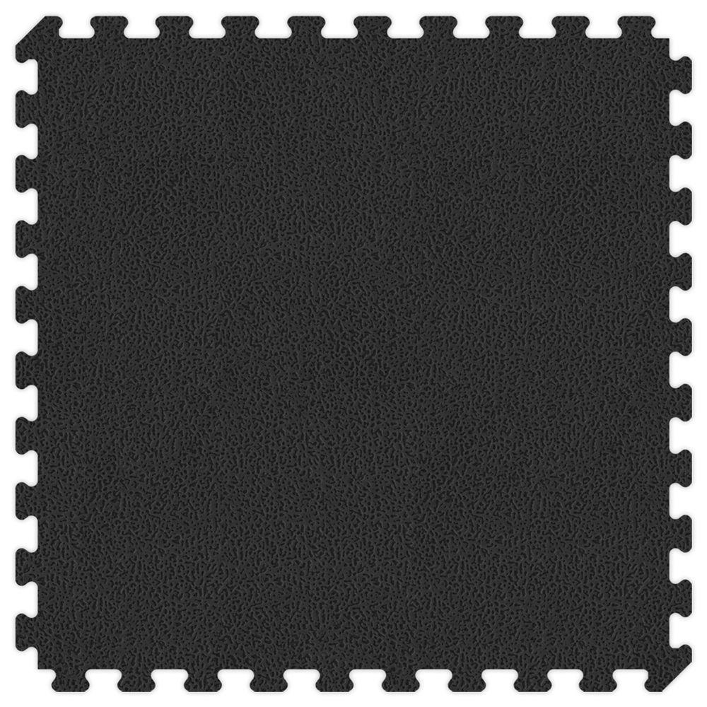 Groovy Mats Black and Grey Reversible Extra Thick Comfortable Mats - Small Sample Piece